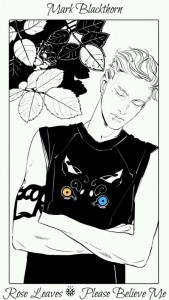 Mark Blackthorn Flower Card